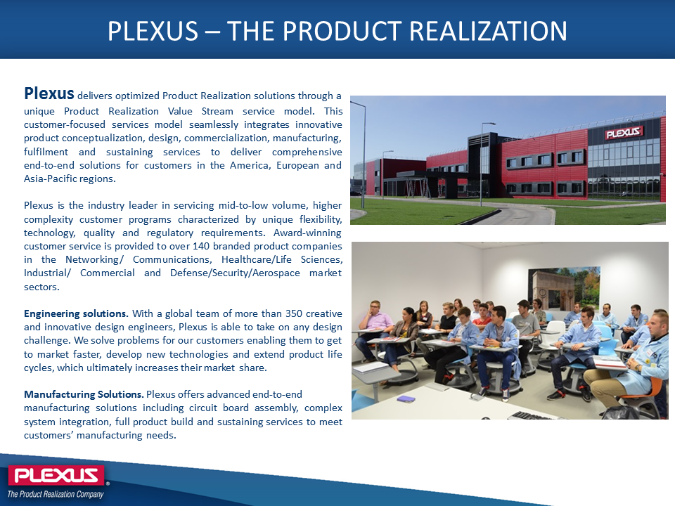 Plexus Company description