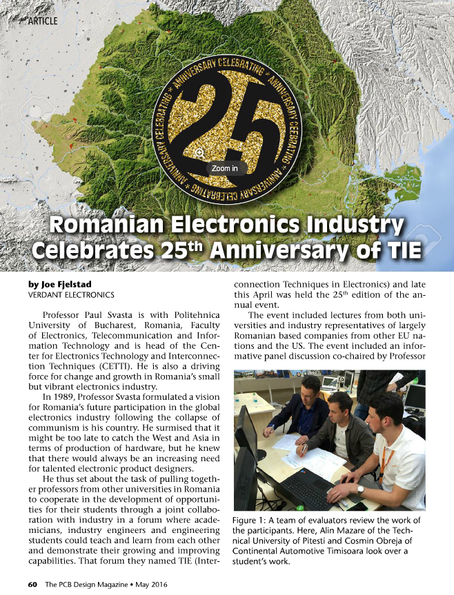 Romanian Electronics Industry Celebrates 25th Anniversary of TIE